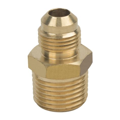 Poluper Connector Thread 3 8 X 1 2 shop brasscraft 3 8 in x 1 2 in threaded flare x mip adapter fitting at lowes