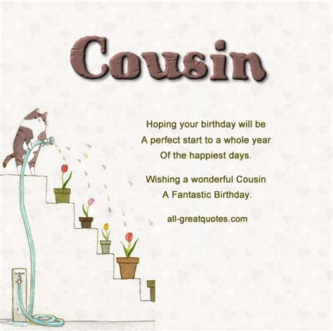 Birthday Quotes For A Cousin Happy Birthday Cousin Wishes Pictures Page 4