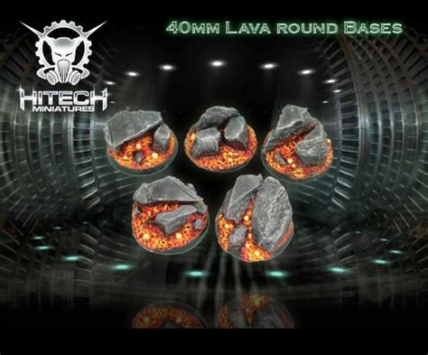 Simply Overal Lava frp product scenic bases 40mm lava 5