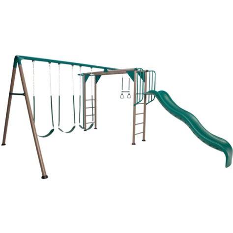 lifetime swing lifetime 90143 monkey bar play set playground with slide