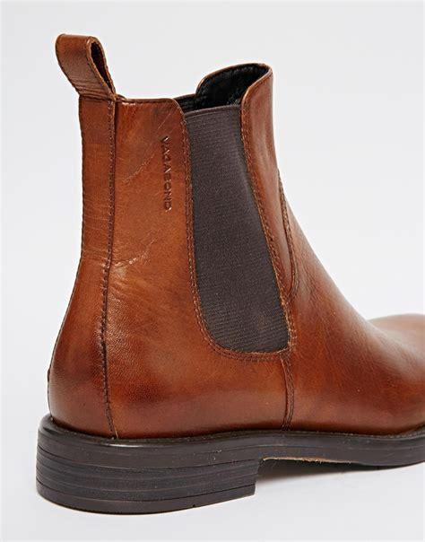 cognac boots for lyst vagabond amina cognac leather chelsea ankle boots