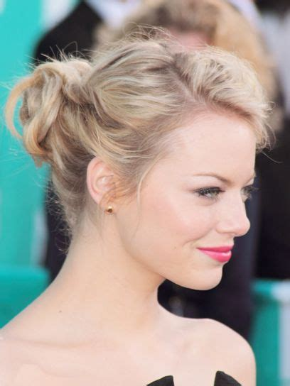 emma stone updo hairstyles emma stone mtv movie awards hair and makeup celebrity