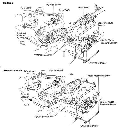 toyota 4runner engine diagram repair guides vacuum diagrams vacuum diagrams