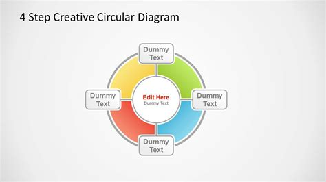 4 Step Creative Circular Diagram For Powerpoint Slidemodel Creative Diagrams