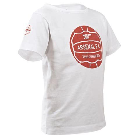 Tshirt Arsenal official arsenal fc white football graphic t shirt