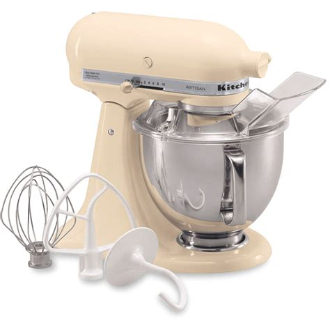 kitchenaid almond cream artisan  quart tilt head stand mixer ksmpsac  ebay