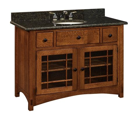 amish 49 quot lucern mission single bathroom vanity cabinet