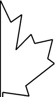 maple leaf template maple leaf template clipart best