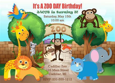 free printable zoo birthday cards zoo birthday invitations zoo birthday invitations for