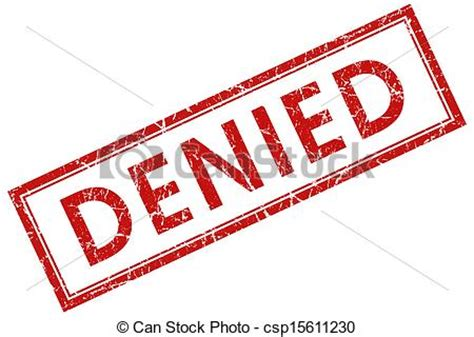 denied rubber st free graphic of access denied denied square st stock