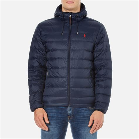 Polo Ralph Lauren Men's Core Nylon Packable Down Jacket   Aviator Navy   Free UK Delivery over £50