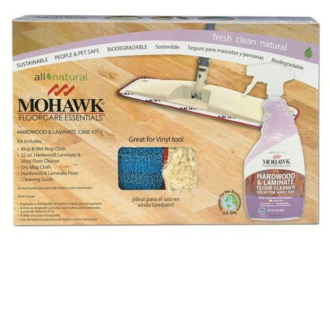 mohawk hardwood and laminate care kit with wet and dust