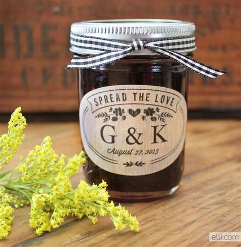 Jam Ukir Nama Motif Wedding spread the jam favors with printable label for rustic wedding theme rustic