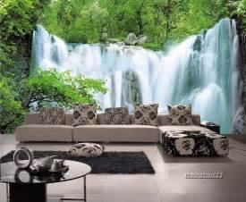 bedroom waterfalls 3d wallpaper bedroom living mural roll nature scenery waterfall wall background ebay