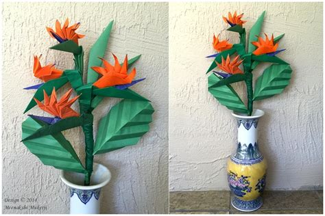 Origami Bird Of Paradise Flower - origami display ideas