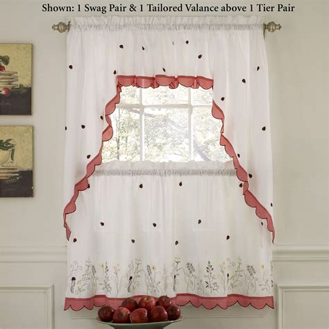Ladybug Meadow Tier Window Treatment