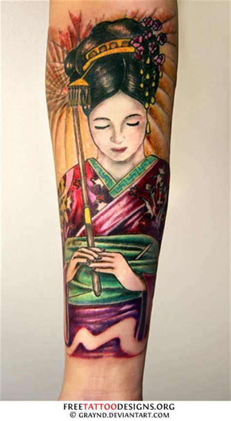 geisha umbrella tattoo geisha tattoos