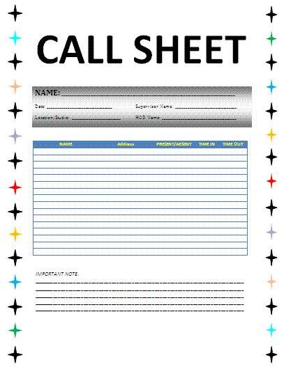 phone call sheet template business call sheet free word s templates