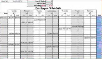 Blank Schedule Template by 8 Blank Work Schedule Template Memo Formats