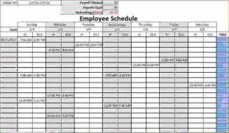 restaurant work schedule template 8 blank work schedule template memo formats