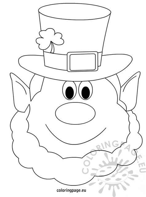 printable leprechaun mask leprechaun coloring page