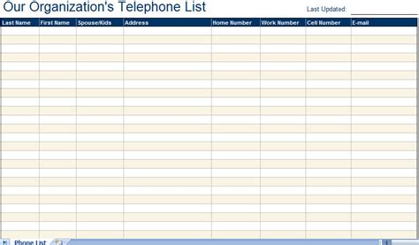 Email Directory Search Telephone Email Directory List Excel Template Telephone Directory List