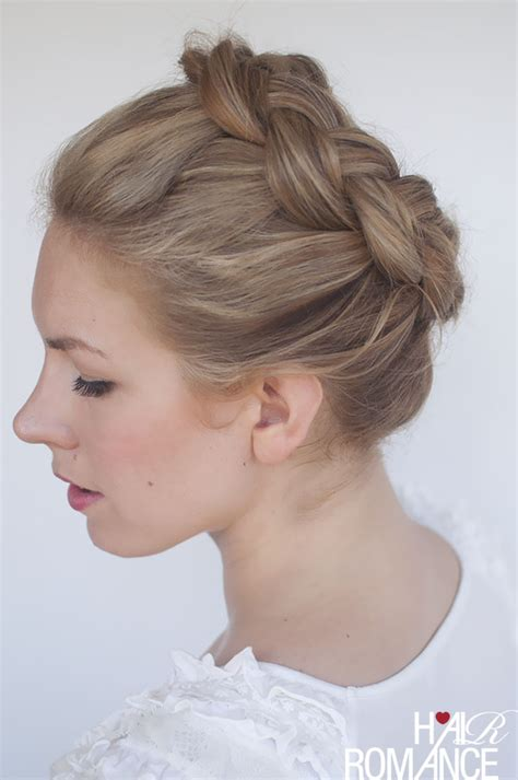 crown braid short hair hairstyles new braid tutorial the high braided crown hairstyle
