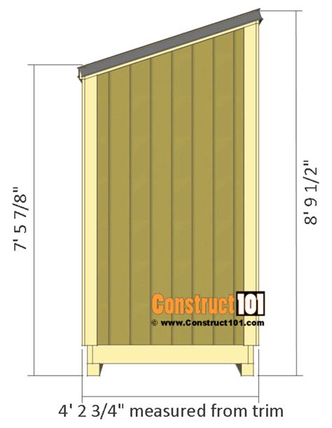 4 X 8 Lean To Shed by Lean To Shed Plans 4x8 Step By Step Plans Construct101