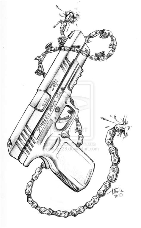 gun drawing tattoo www imgkid com the image kid has it