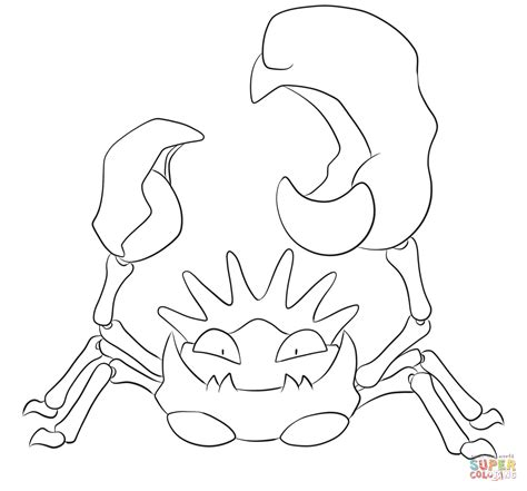 pokemon coloring pages voltorb kingler coloring page free printable coloring pages