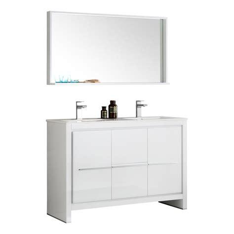 ceramic bathroom vanity fresca oxford 48 in double vanity in antique white with