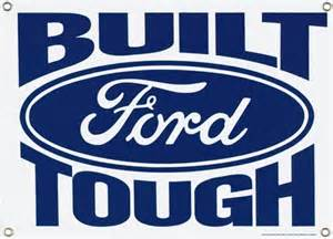 built ford tough porcelain sign ande rooney signs