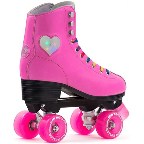 light up roller skates rio roller figure light up quad roller skates pink