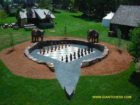 Patio Chess Set by Outdoor Wooden Garden Chess Perfect For Gardens Parties