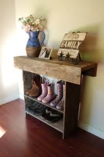 reclaimed cedar wall table console entry sale