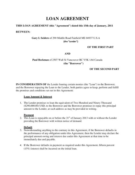 percentage agreement template loan contract exle microsoft office inventory template