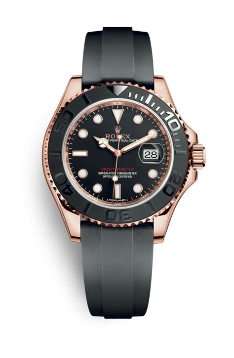 yacht master rolex yacht master 40 watch 18 ct everose gold m116655 0001