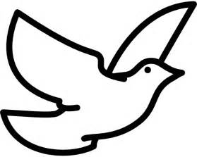 White Dove Template by Flying Dove Clip At Clker Vector Clip