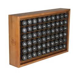 allspice wooden spice rack includes 60 4oz jars cherry