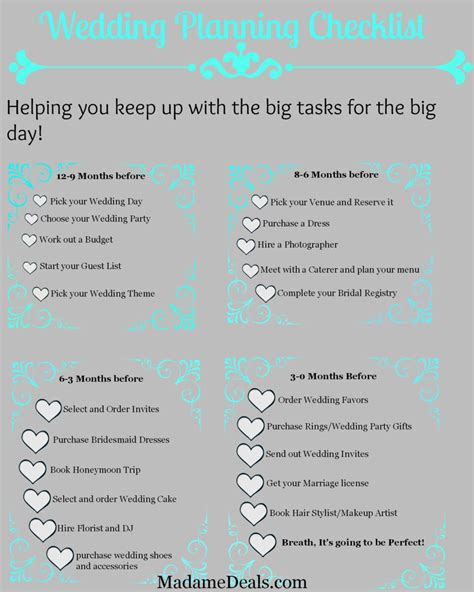 printable wedding planning checklist real advice gal
