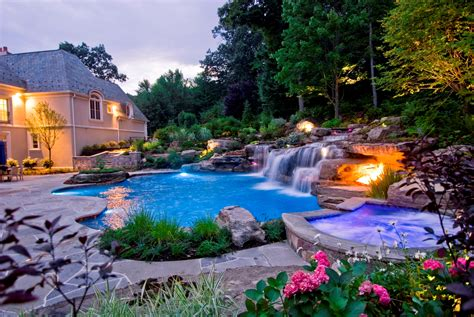Backyard Landscaping With Pool by New Jersey Pool Renovation Company Earns International Award For Pool Design
