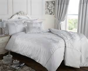 Duvet Super King Size Silver Grey Duvet Quilt Cover Jacquard Bedding Bed Set