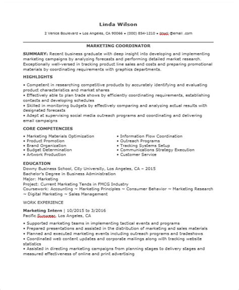 Marketing Coordinator Resume by 30 Professional Marketing Resume Templates Pdf Doc