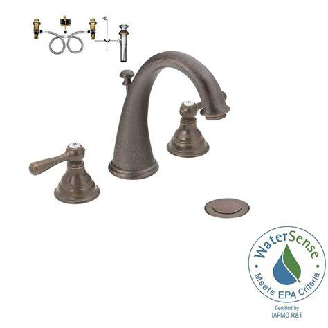 moen kingsley 8 in widespread 2 handle high arc bathroom