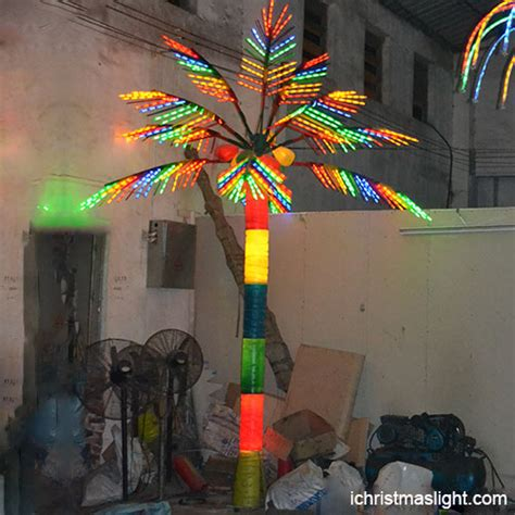 multi color lighted palm trees for sale ichristmaslight