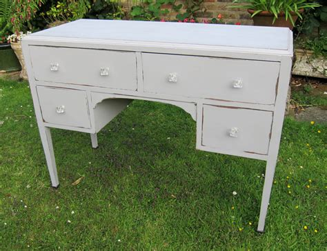 Furnicher Dressing 6fut By 30 Inch 1930 S Grey Painted Dressing Table