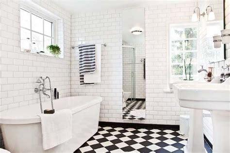 black  white tile bathroom ideas
