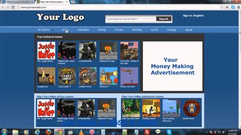 Online Money Making Games - how to make money online by starting games website youtube