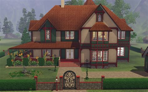 Wisteria Floor Plan by The Sims 3 Victorian House Plans