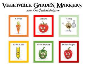 plant tag template vegetable garden markers